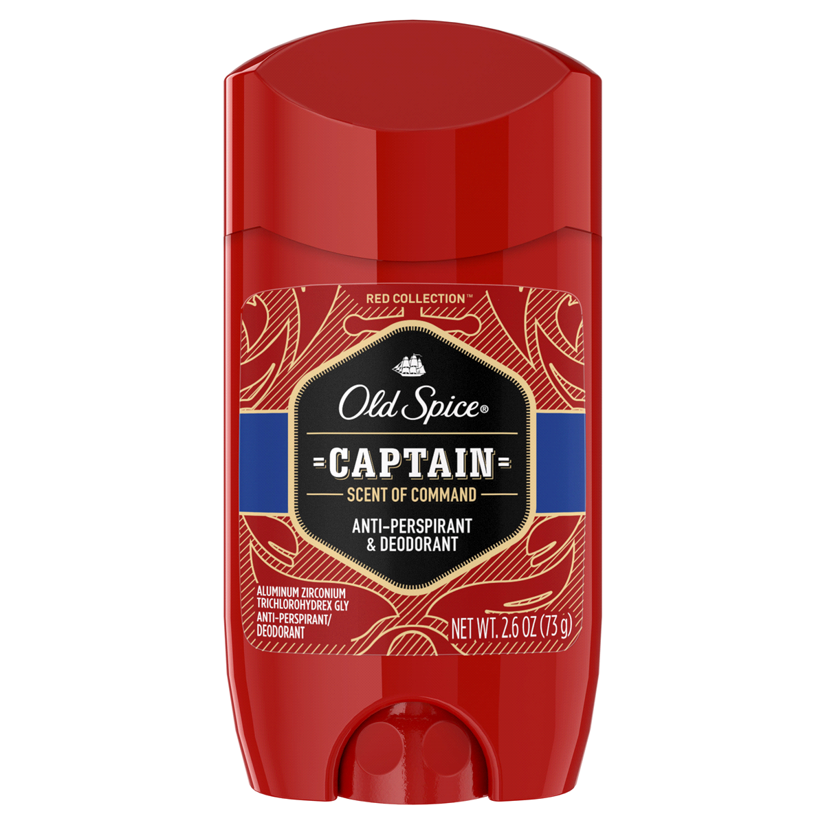 slide 2 of 4, Old Spice Red Collection Captain Invisible Solid Antiperspirant and Deodorant,