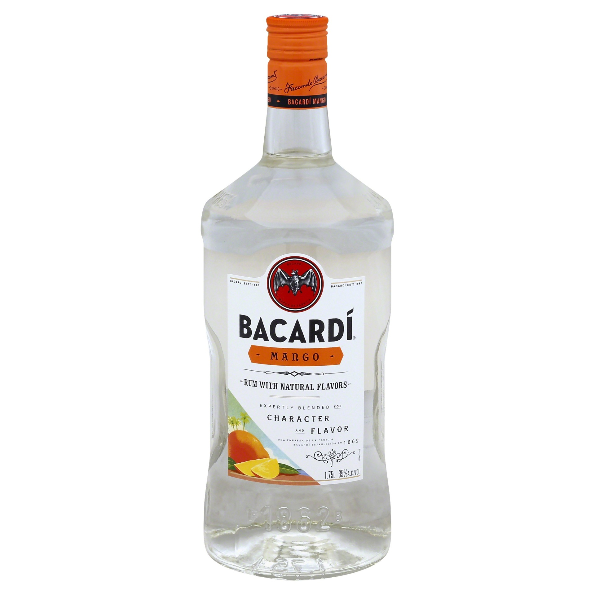 slide 1 of 1, Bacardi Mango Rum,