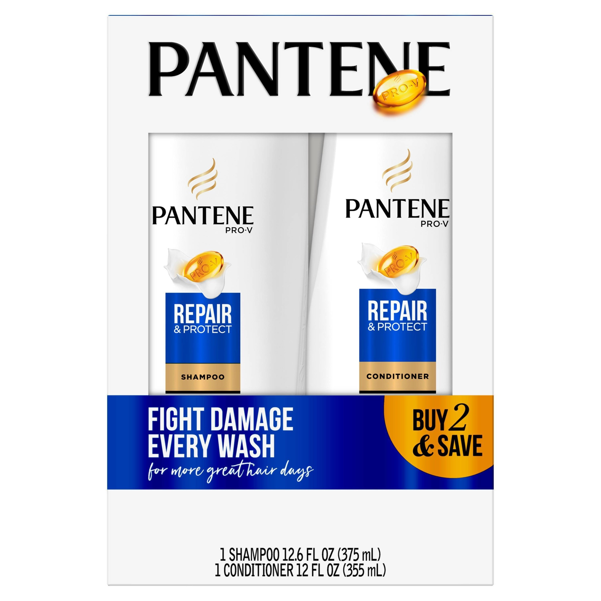 slide 1 of 4, Pantene Pro-V Repair & Protect Shampoo and Conditioner Bundle,