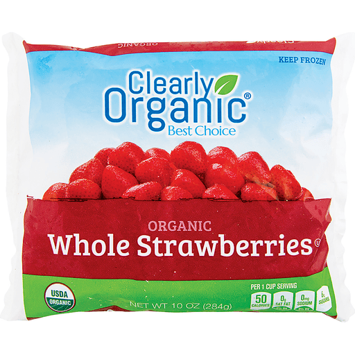 slide 1 of 1, Clearly Organic Strawberries,