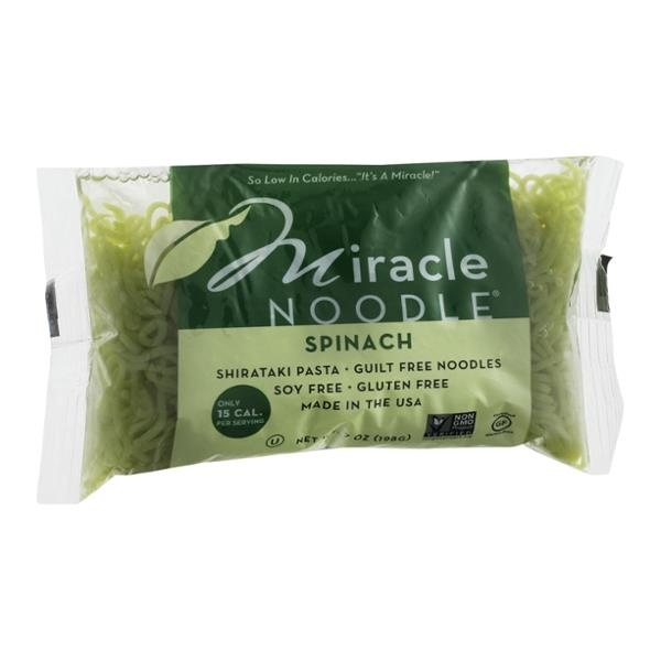 slide 1 of 1, Miracle Noodle Kitchen Angel Hair Spinach Noodles,