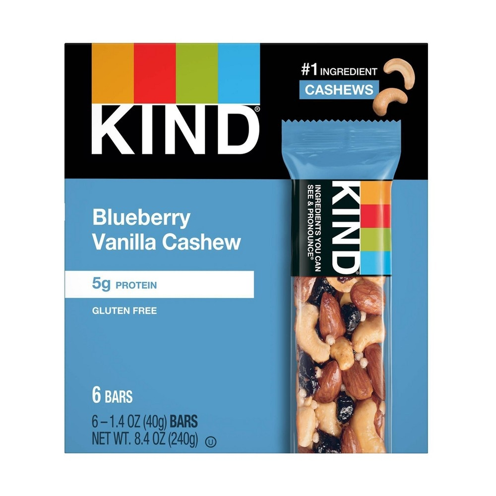 slide 2 of 2, KIND Fruit And Nut Bar Blueberry Vanilla And Cashew,
