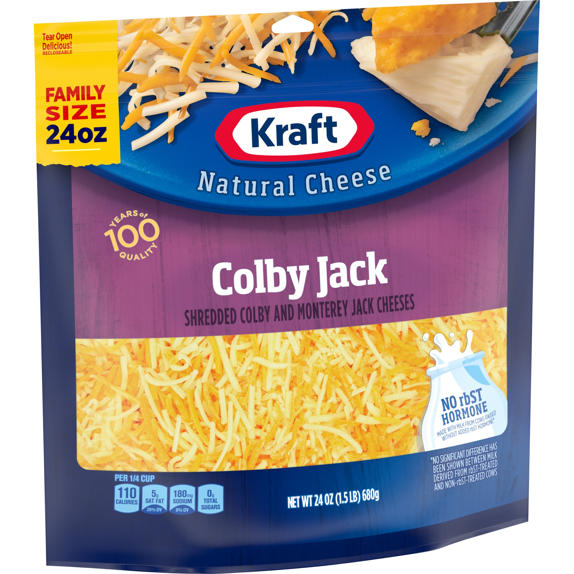 slide 2 of 6, Kraft Colby Jack Shredded Natural Cheese,