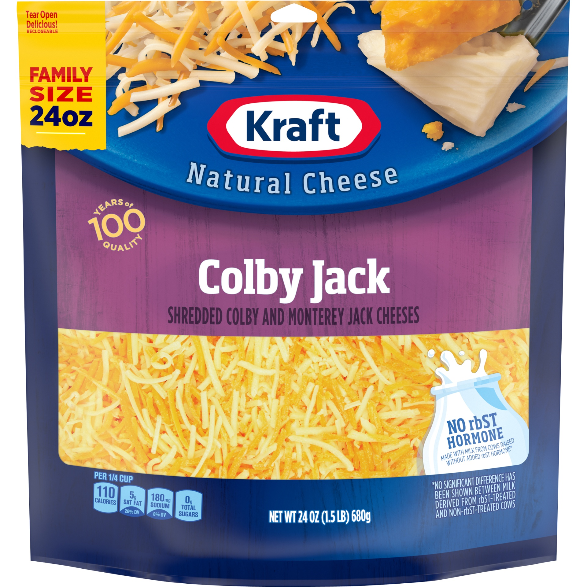 slide 1 of 6, Kraft Colby Jack Shredded Natural Cheese,