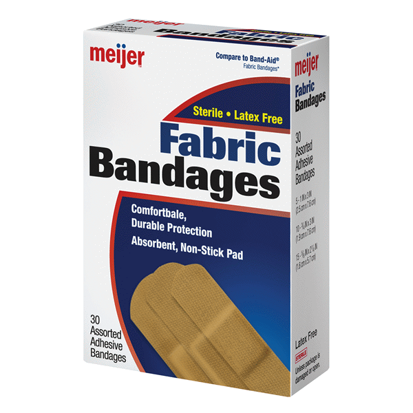 slide 1 of 6, Meijer Flexible Fabric Adhesive Bandages,