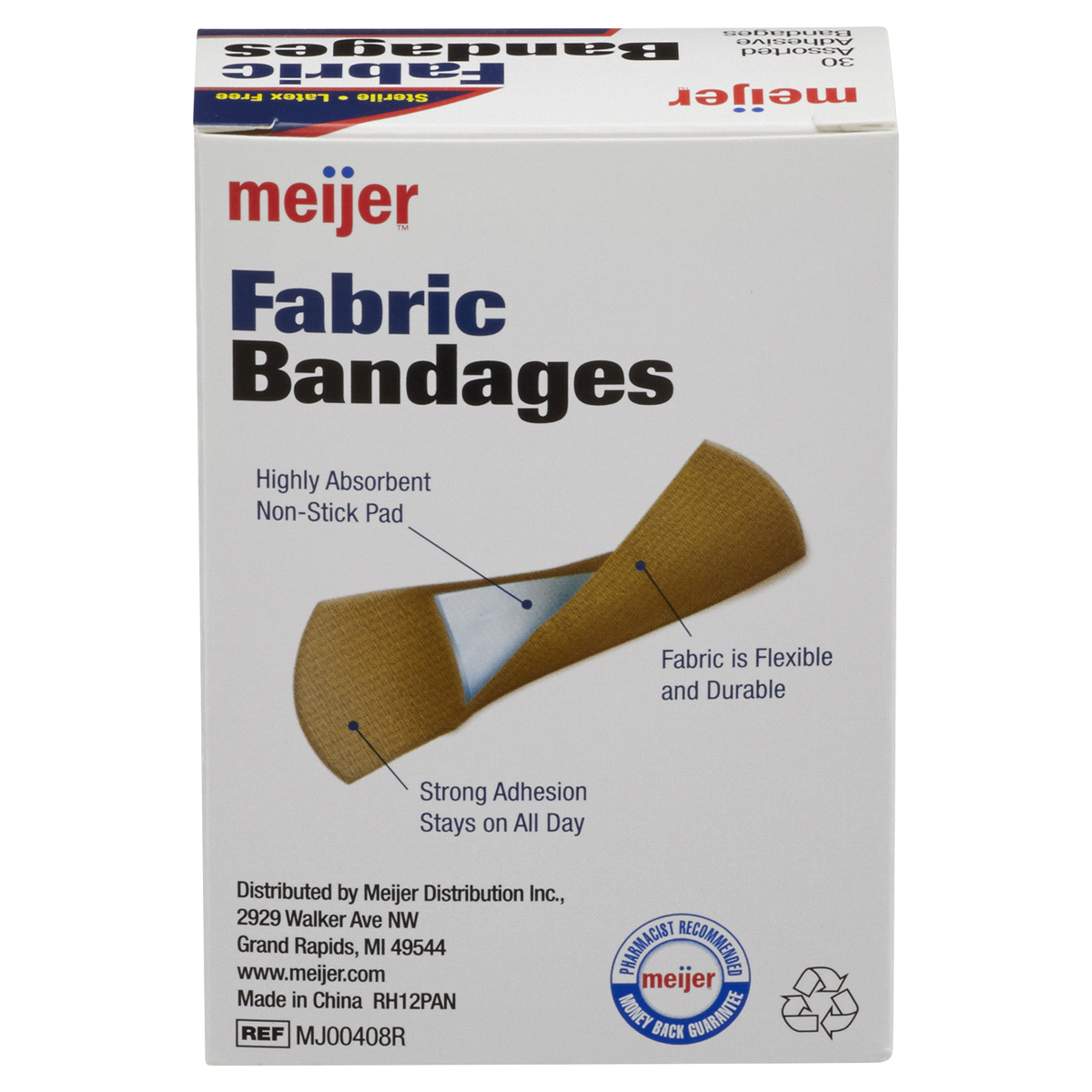 slide 4 of 6, Meijer Flexible Fabric Adhesive Bandages,