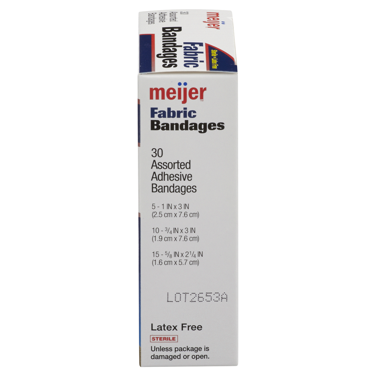 slide 6 of 6, Meijer Flexible Fabric Adhesive Bandages,