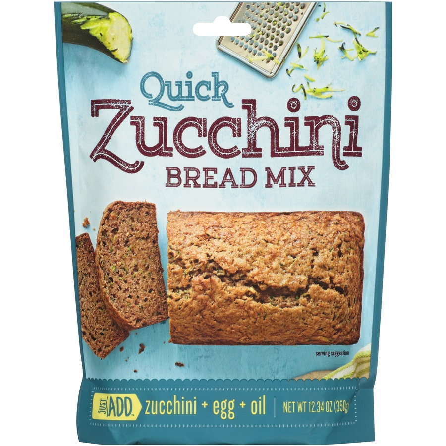 slide 1 of 6, Just Add Quick Zucchini Bread Mix,