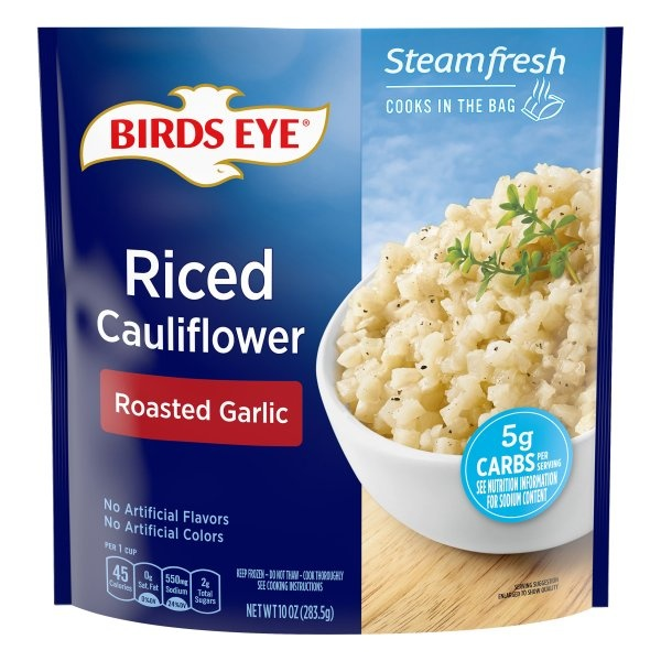 slide 1 of 4, Birds Eye Steamfresh Riced Cauliflower with Roasted Garlic,