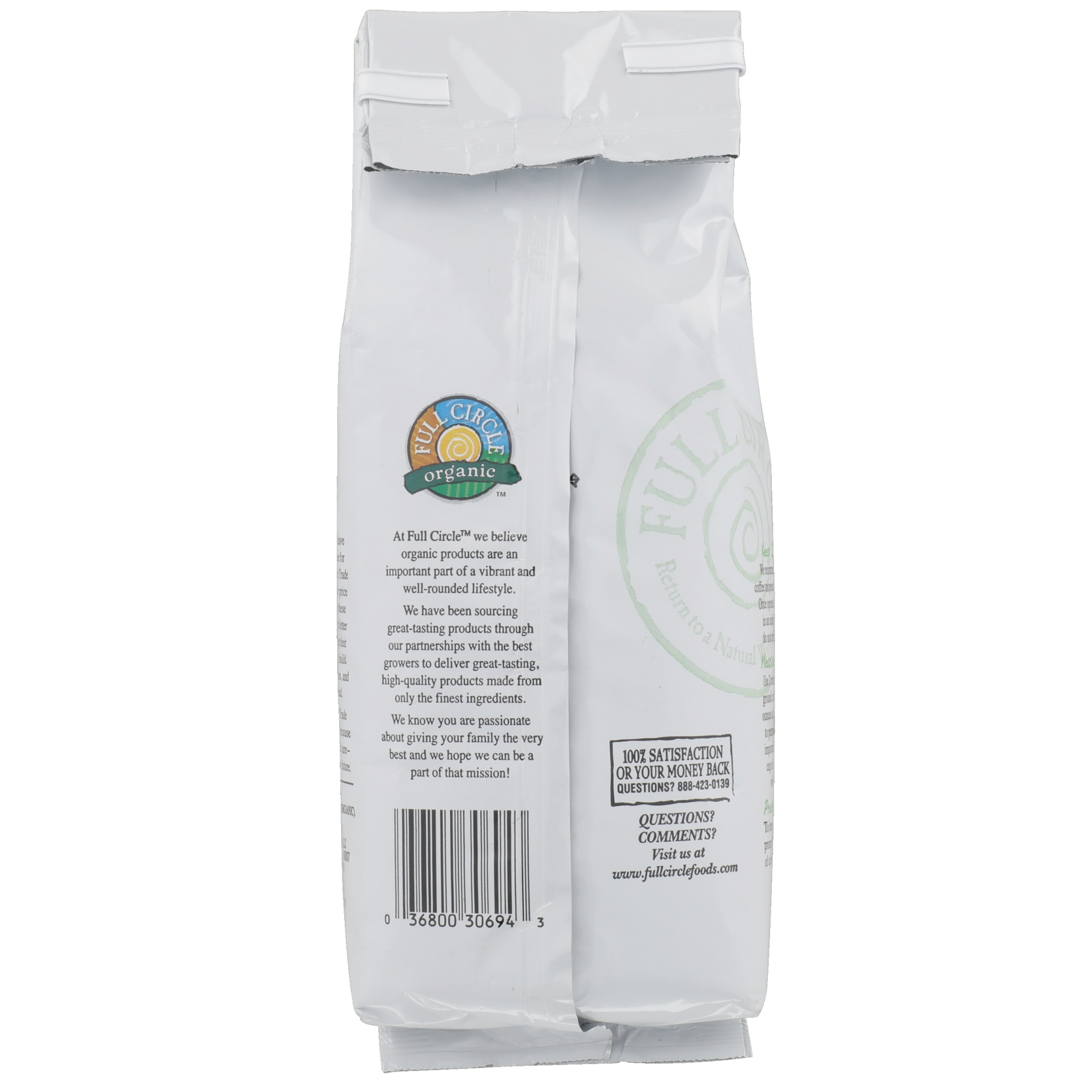 slide 2 of 6, Full Circle Market Medium Roast Decaf Signature Blend Hand-crafted 100% Arabica Ground Coffee,