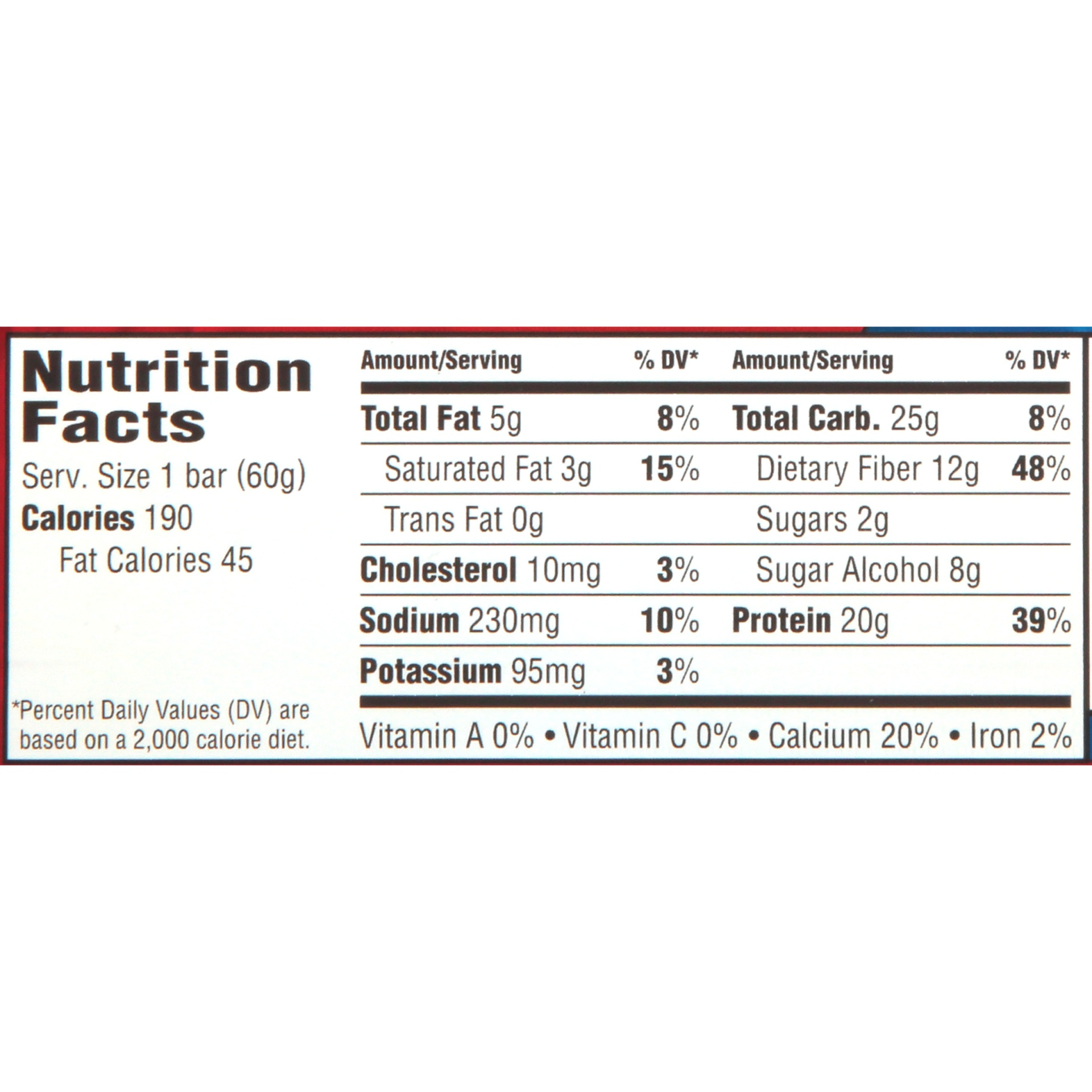 slide 5 of 6, PowerBar Clean Whey Cookies and Cream Flavored Protein Bar,