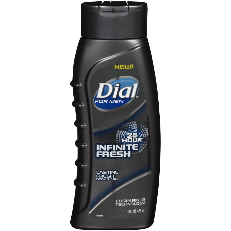 slide 1 of 6, Dial For Men Infinite Fresh Body Wash,