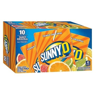 slide 1 of 1, Sunny D Tangy Original Pouches,