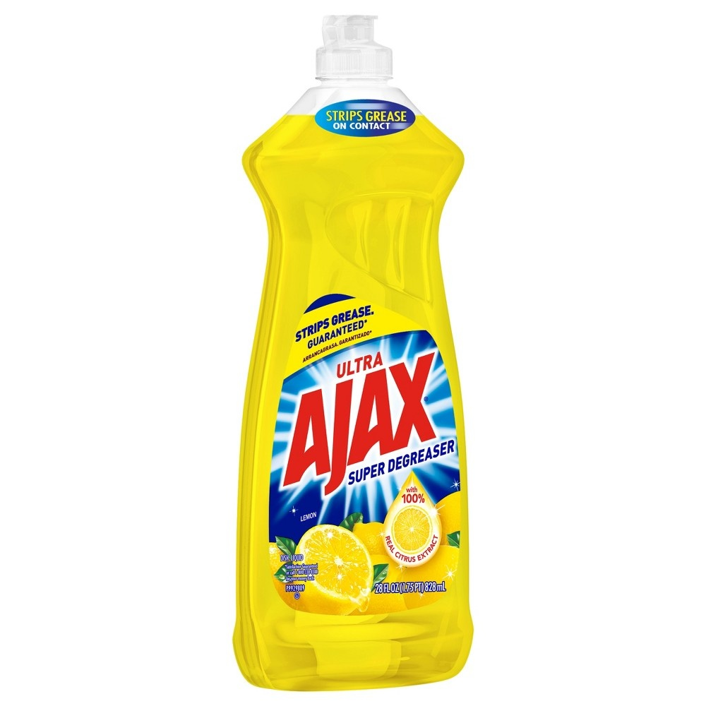 slide 2 of 4, Ajax Ultra Lemon Super Degreaser Dish Liquid,