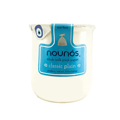 slide 1 of 1, Nounós Classic Plain Whole Milk Greek Yogurt,