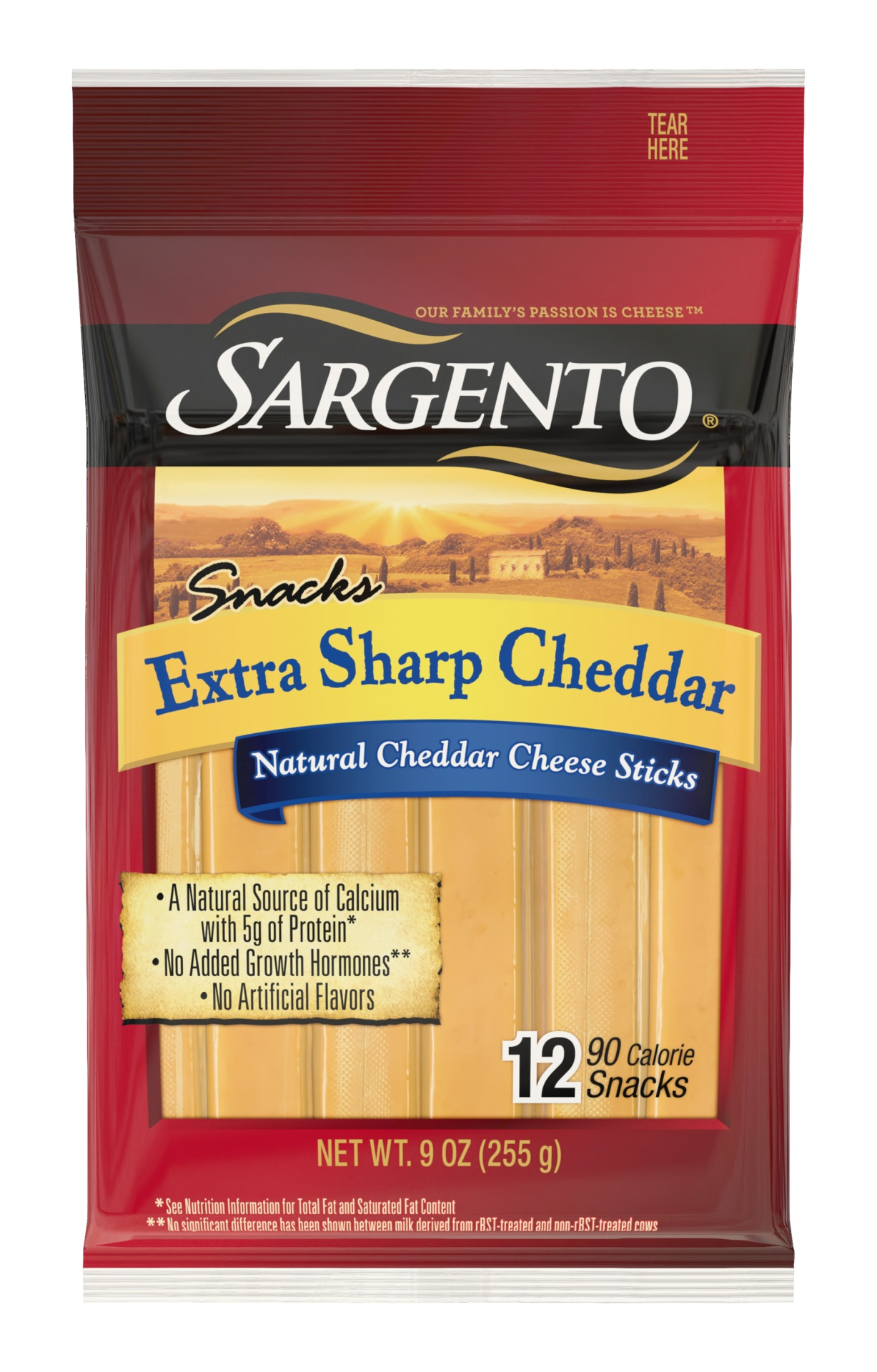 slide 1 of 6, Sargento Snacks Extra Sharp Cheddar Cheese Sticks,
