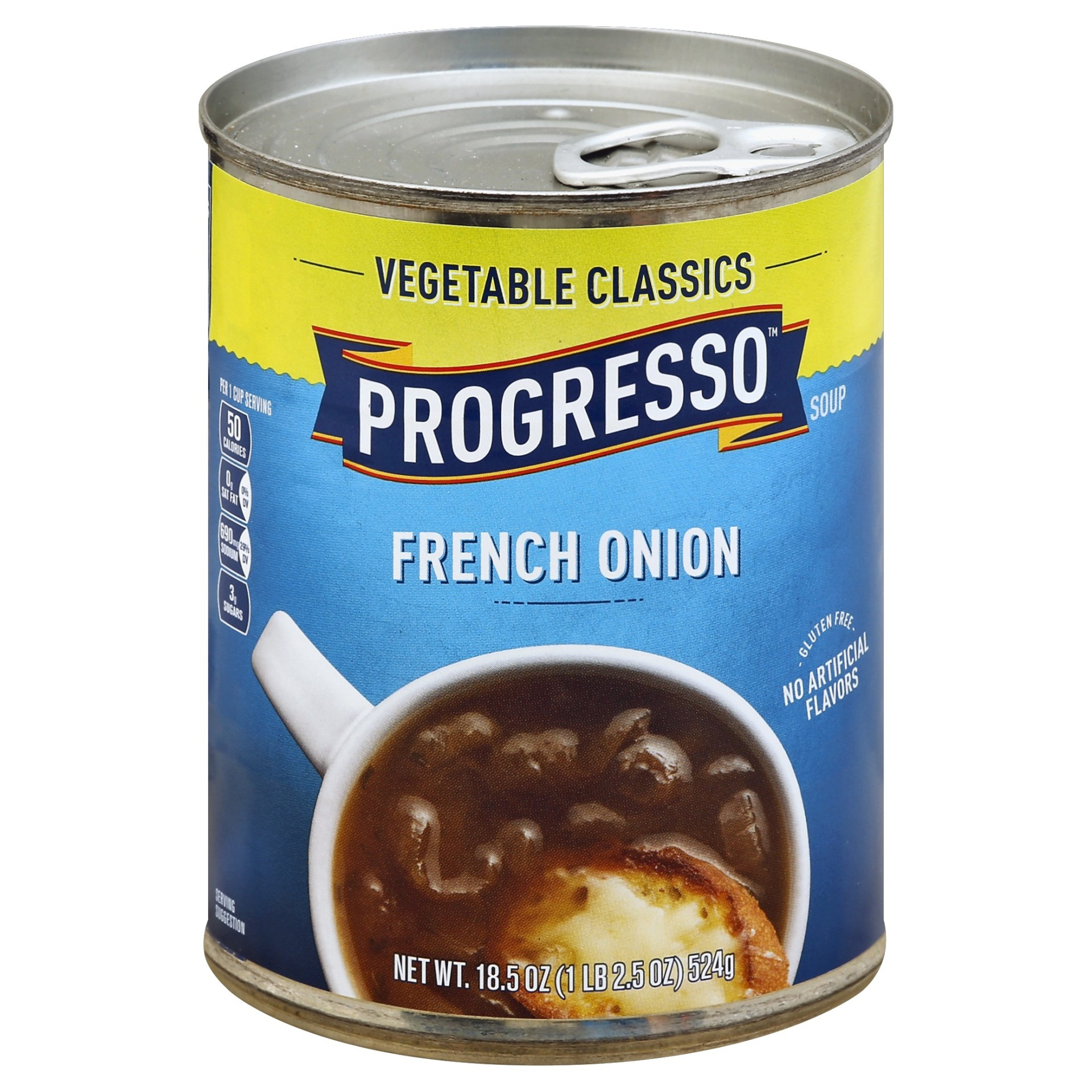 slide 1 of 1, Progresso Gluten Free Low Fat Vegetable Classics French Onion Soup,