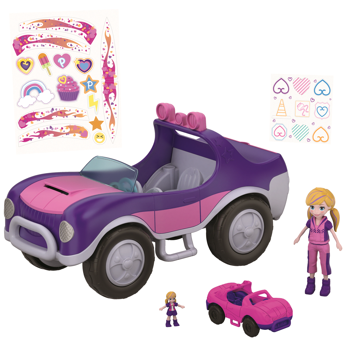 slide 9 of 12, Polly Pocket S.U.V. (Secret Utility Vehicle) Set,