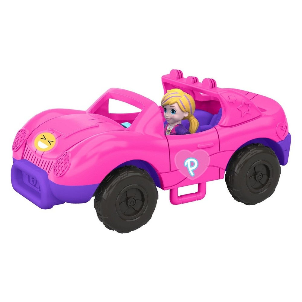 slide 10 of 12, Polly Pocket S.U.V. (Secret Utility Vehicle) Set,