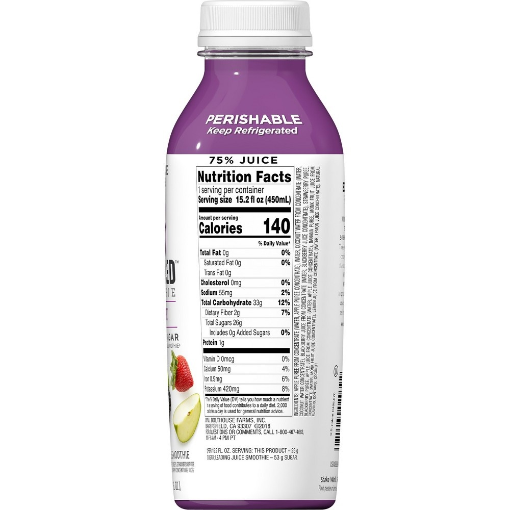 slide 2 of 7, Bolthouse Farms B Balanced Berry Smoothie,
