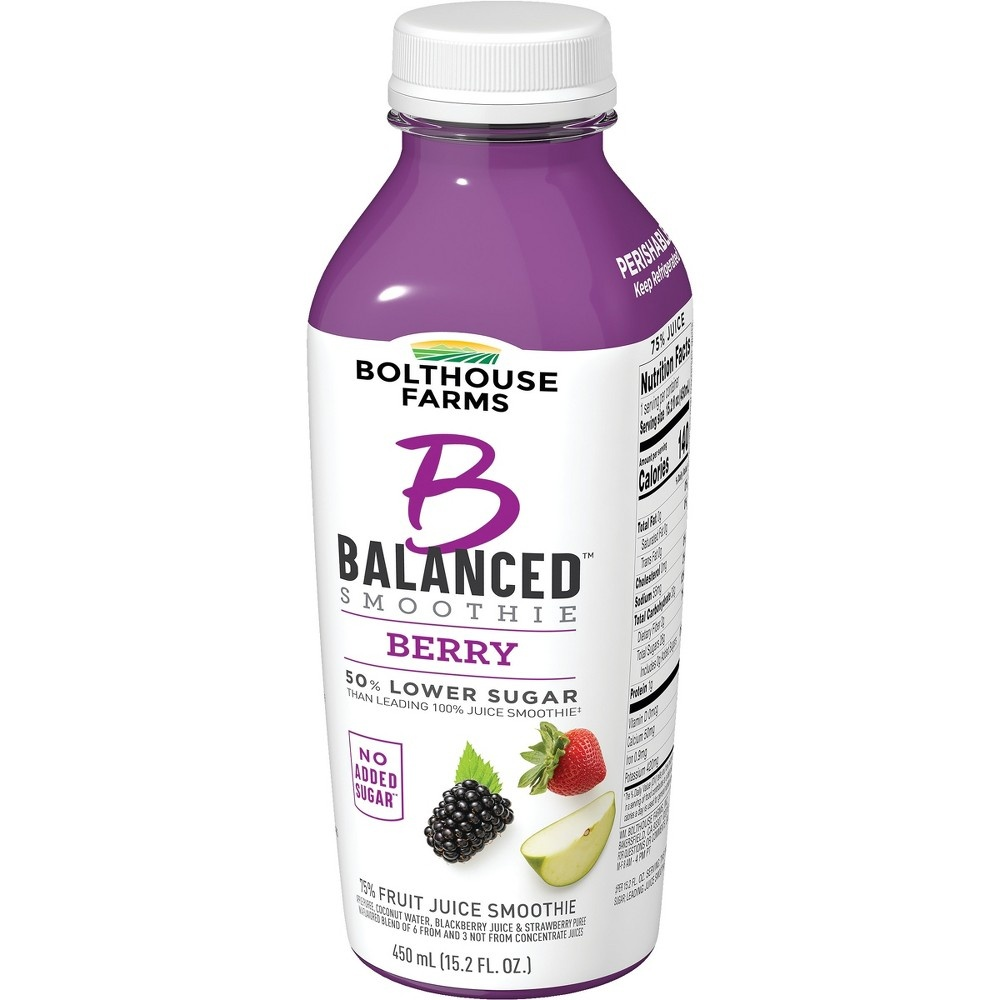 slide 5 of 7, Bolthouse Farms B Balanced Berry Smoothie,