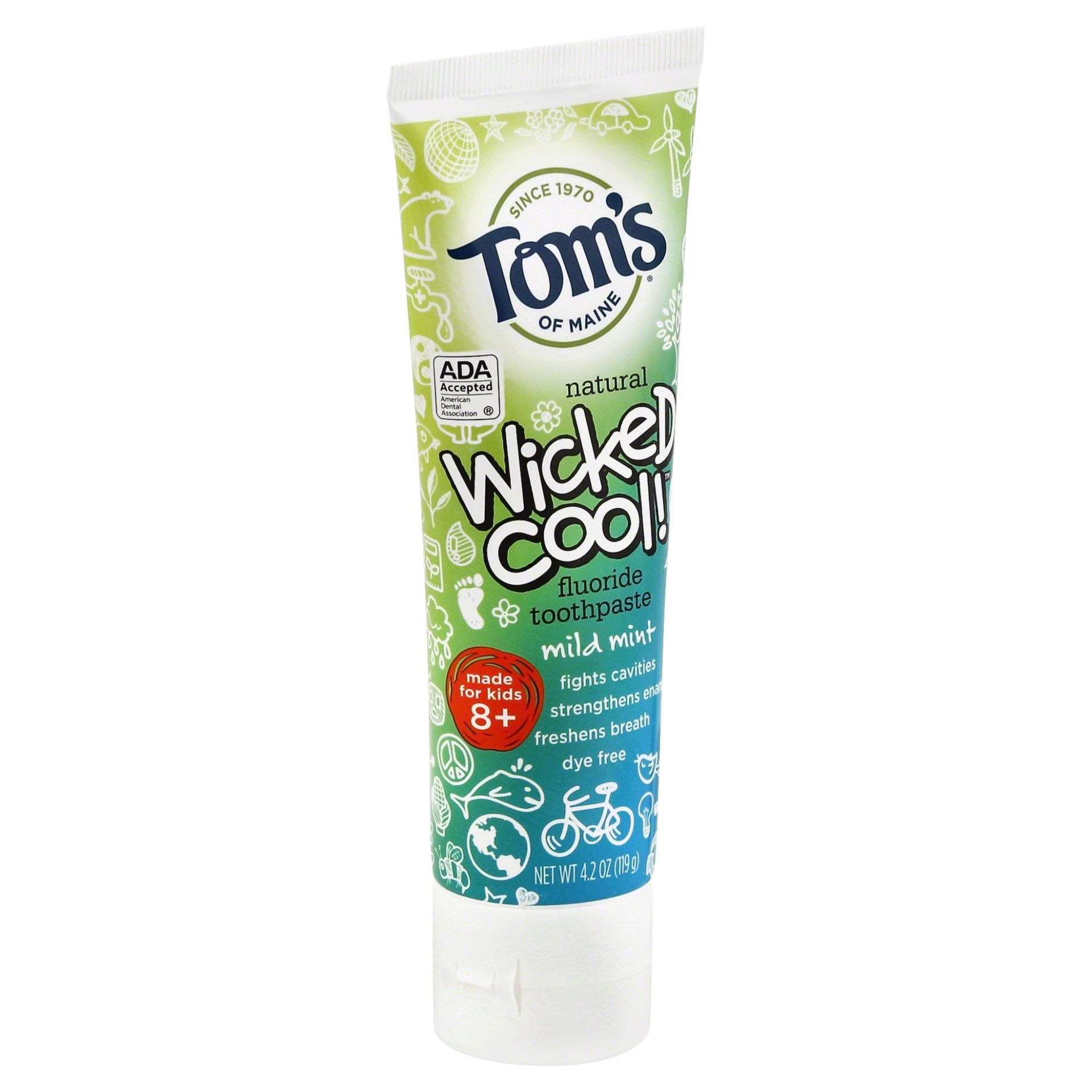 slide 1 of 2, Tom's of Maine Kids Wicked Cool Mild Mint Toothpaste,