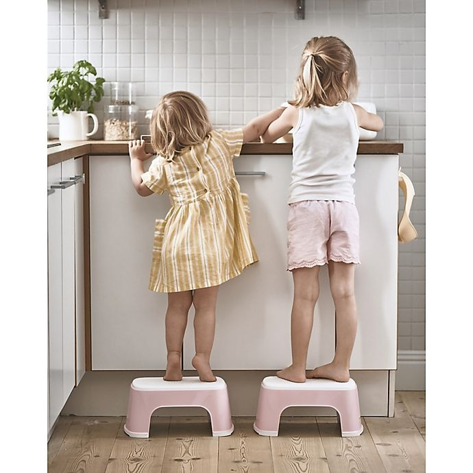 slide 2 of 2, BABYBJÖRN Step Stool - Powder Pink/White,