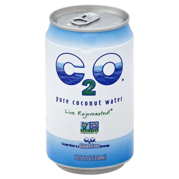 slide 1 of 1, C2O Pure Coconut Water Can,