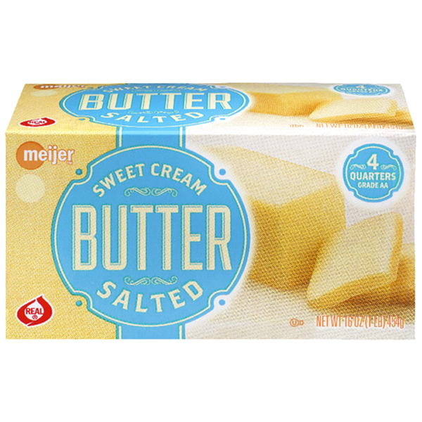 slide 1 of 1, Meijer Salted Sweet Cream Butter Sticks,