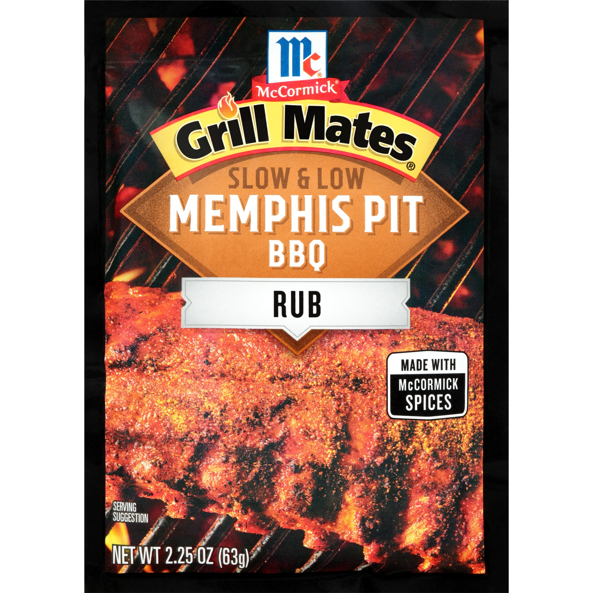 slide 1 of 1, McCormick Grill Mates Slow & Low Memphis Pit BBQ Rub,