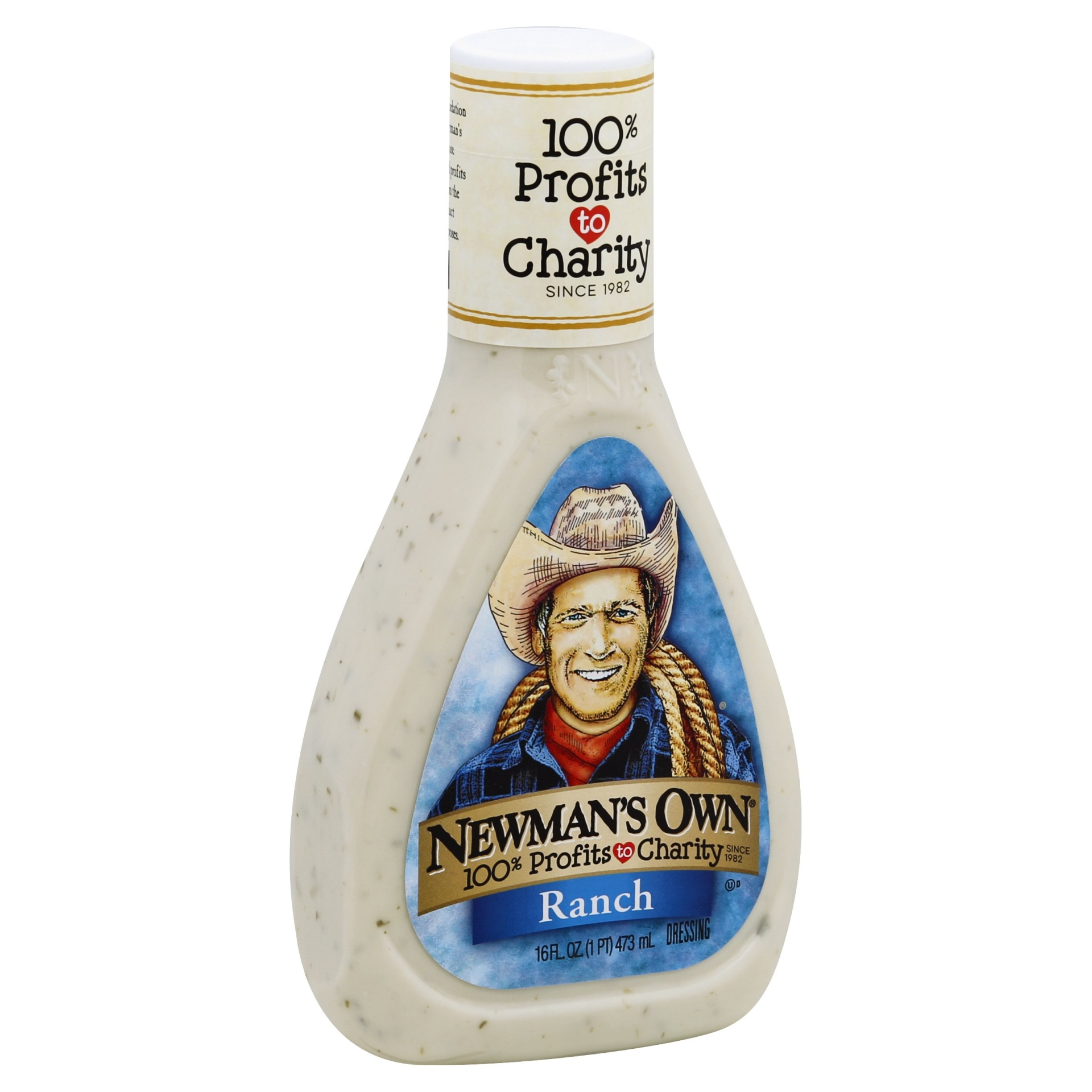 slide 1 of 9, Newman's Own Ranch Dressing,