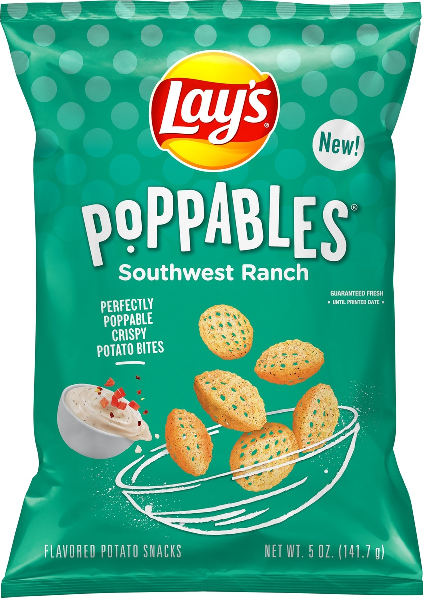slide 4 of 5, Lay's Potato Chips Poppables Southwest Ranch,