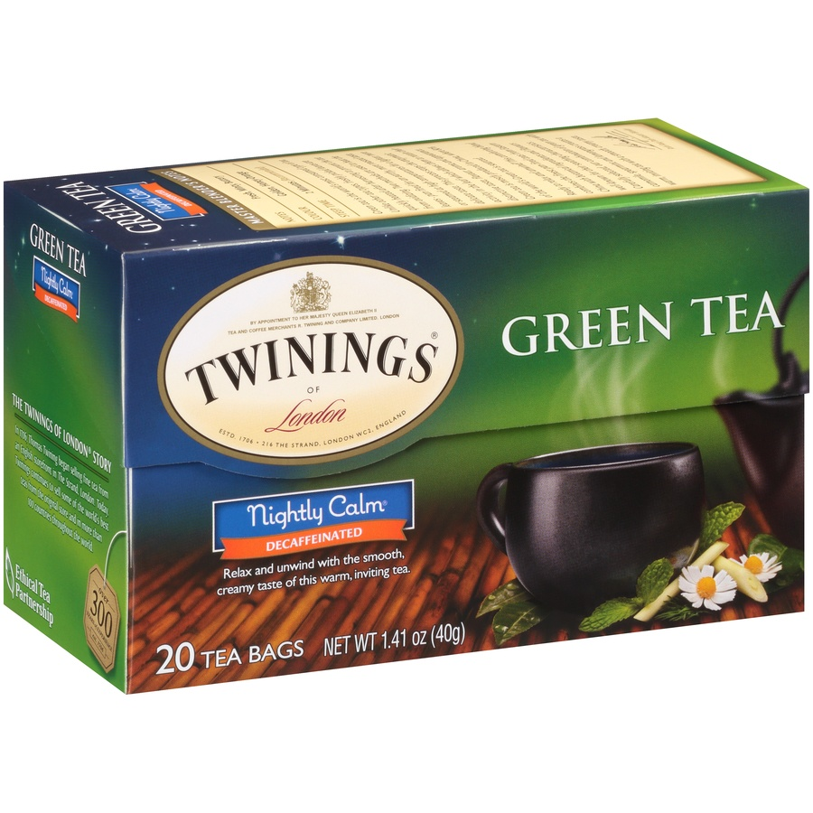 slide 2 of 7, Twinings of London Nightly Calm Green 20 Ct Tea Bags,
