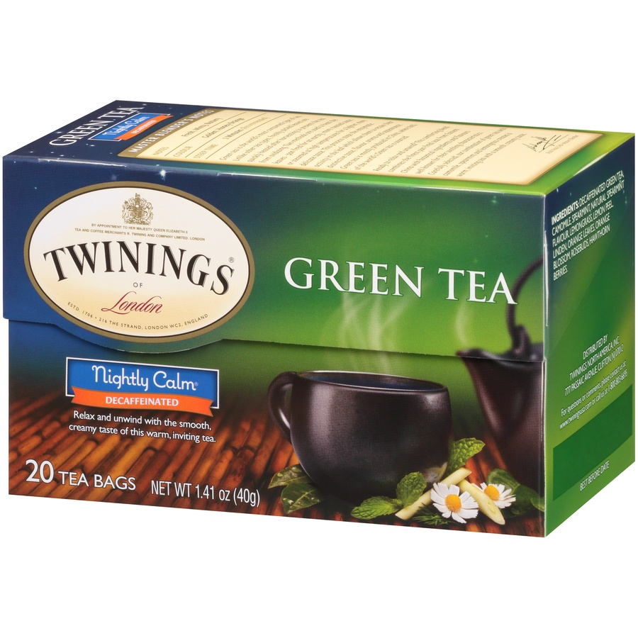 slide 3 of 7, Twinings of London Nightly Calm Green 20 Ct Tea Bags,