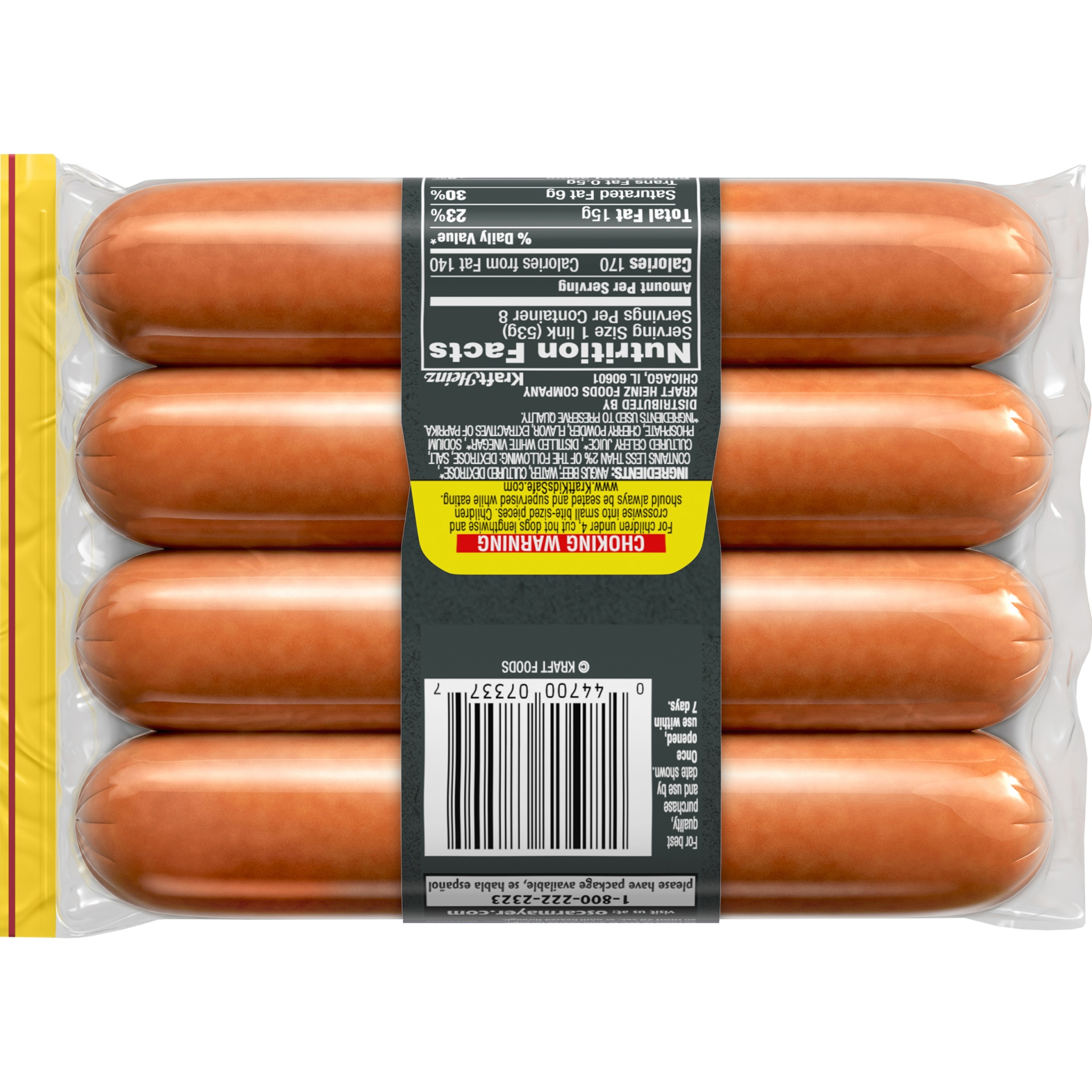 slide 11 of 13, Oscar Mayer Jumbo Angus Beef Uncured Franks 15 oz,