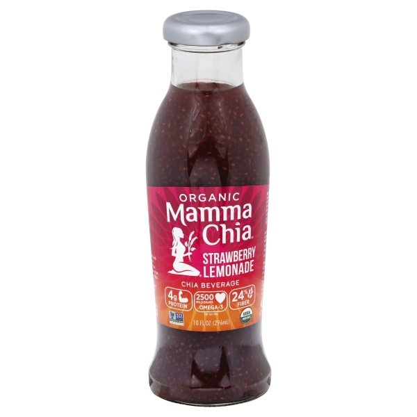 slide 1 of 1, Mamma Chia Organic Chia Beverage Strawberry Lemonade,