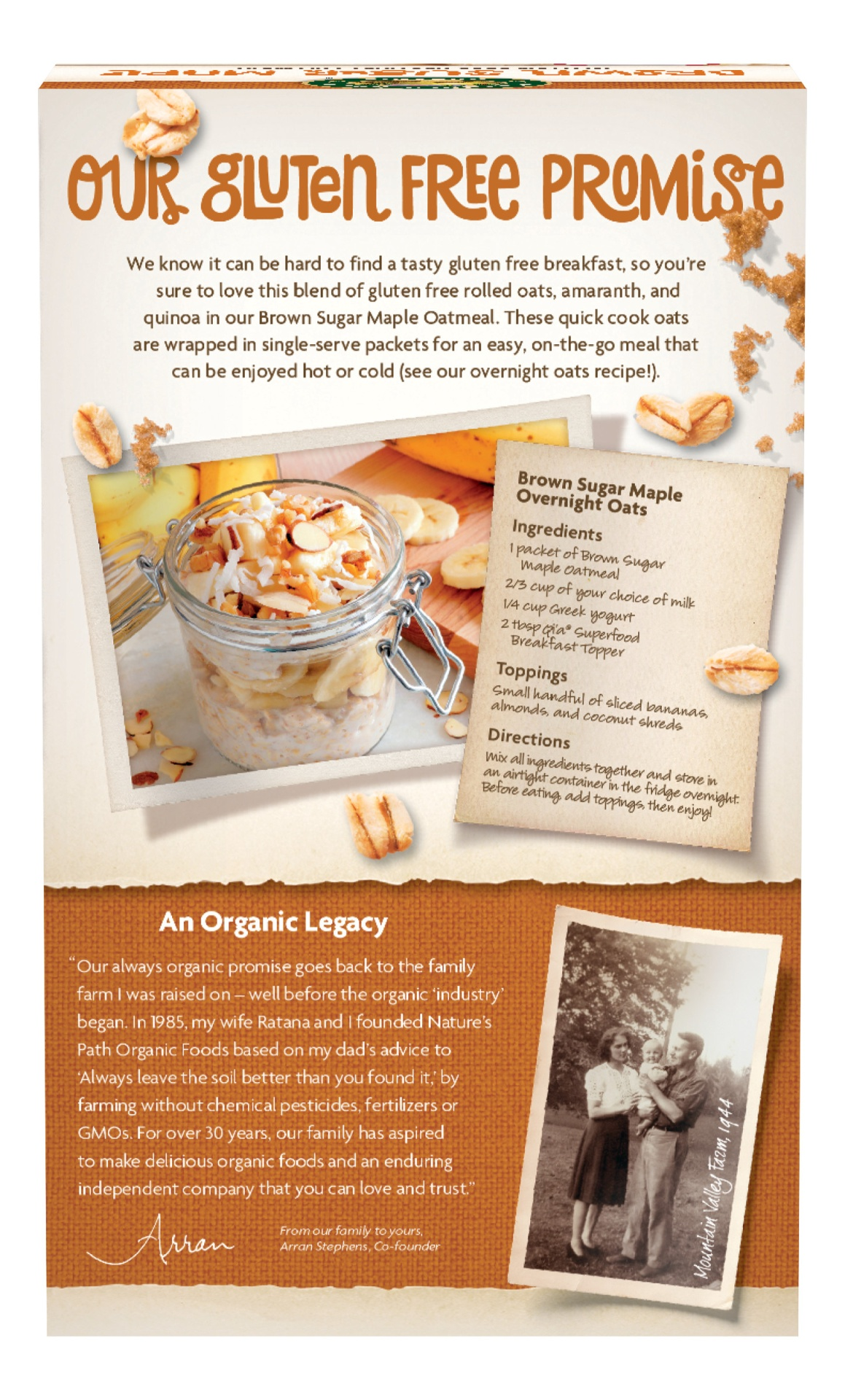 slide 2 of 6, Nature's Path Gluten Free Brown Sugar Maple Oatmeal,