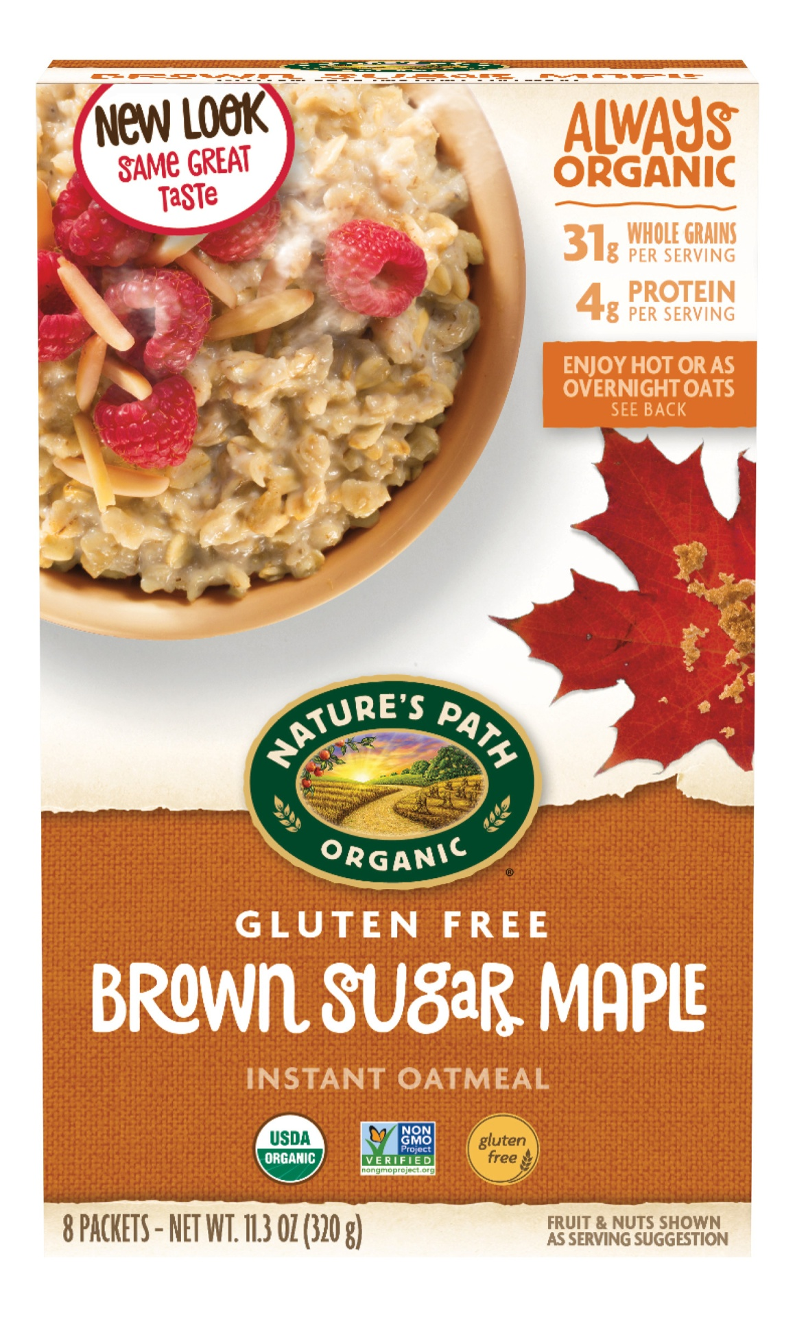 slide 1 of 6, Nature's Path Gluten Free Brown Sugar Maple Oatmeal,