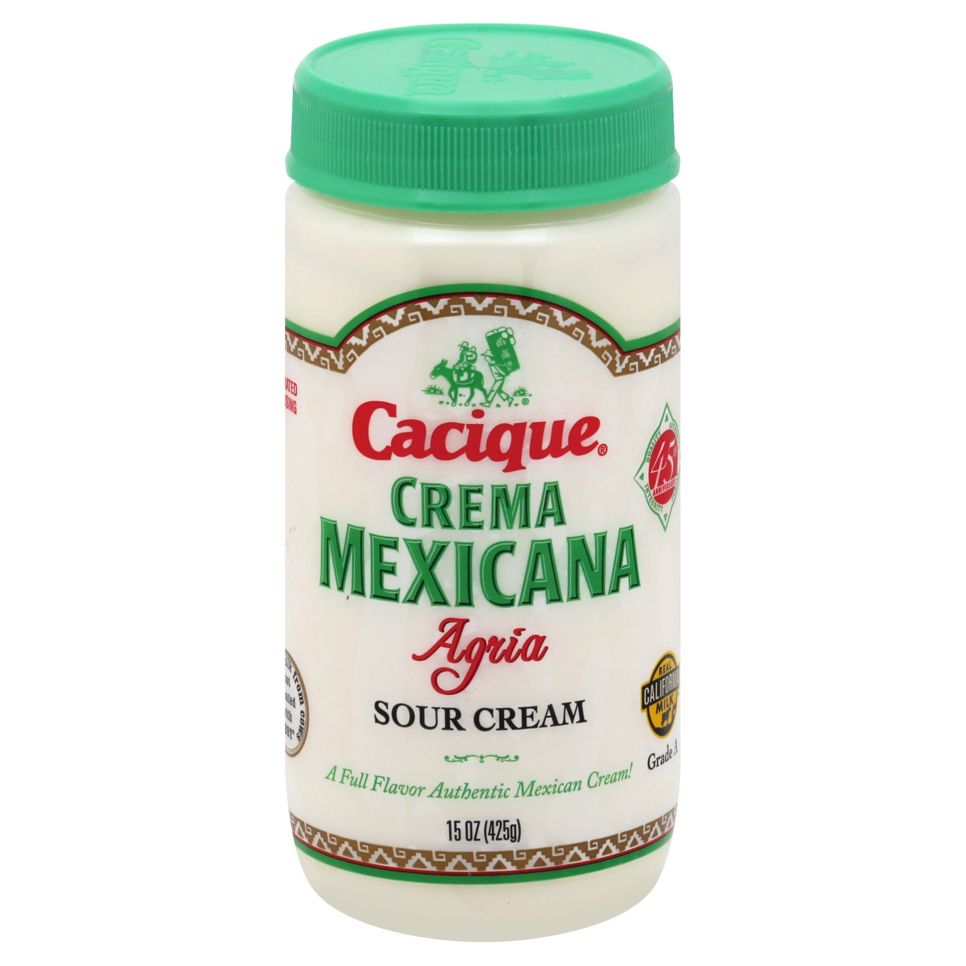 slide 1 of 1, Cacique Crema Mexicana Agria,