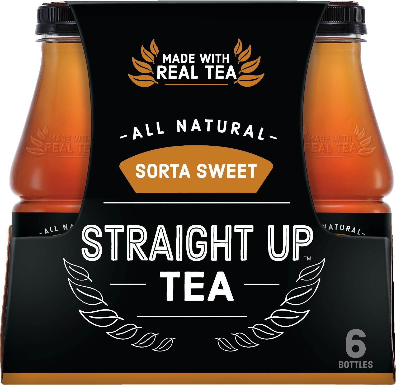 slide 1 of 2, Snapple Sorta Sweet Straight Up Tea,