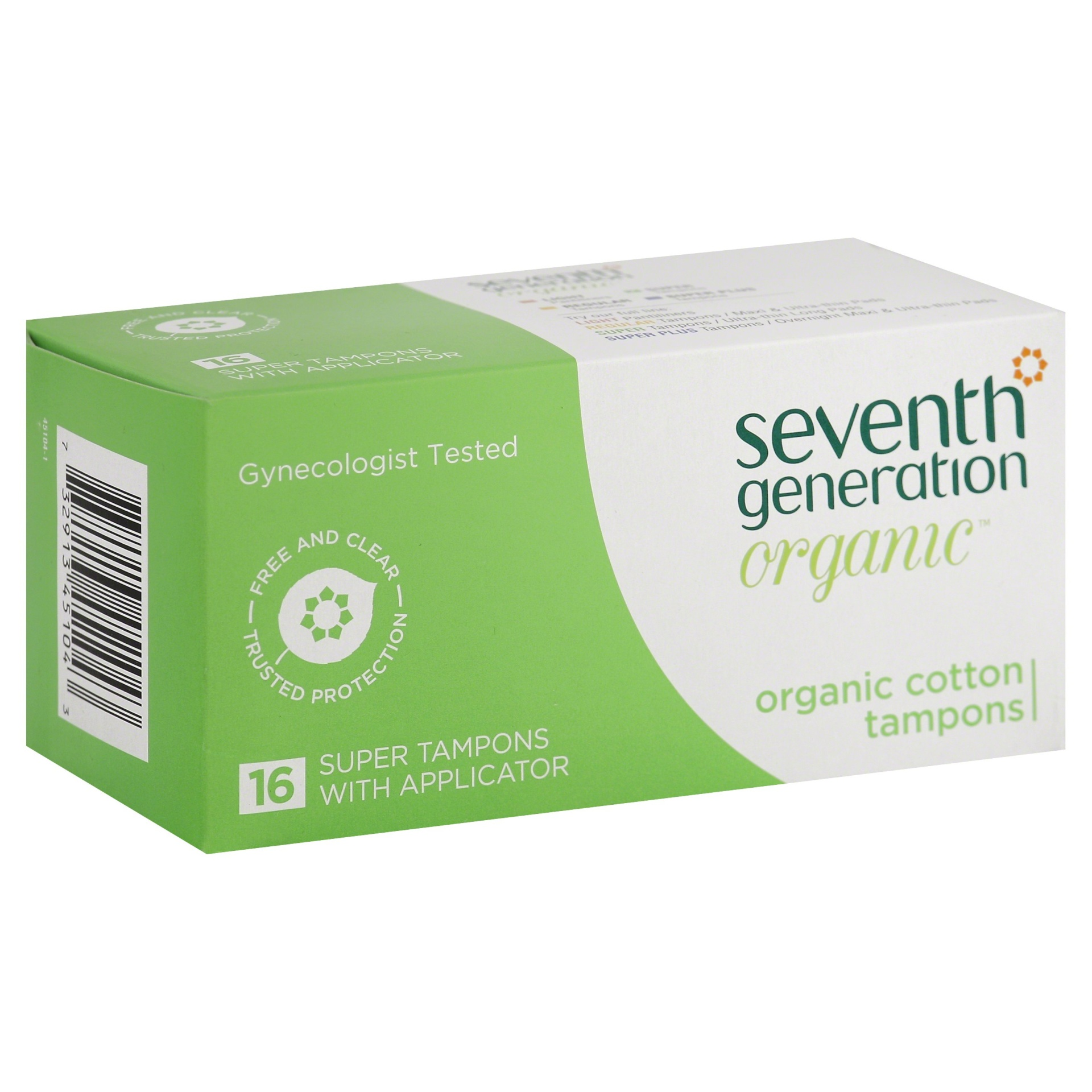 slide 1 of 6, Seventh Generation Free Clear Super Tampons With Applicator,