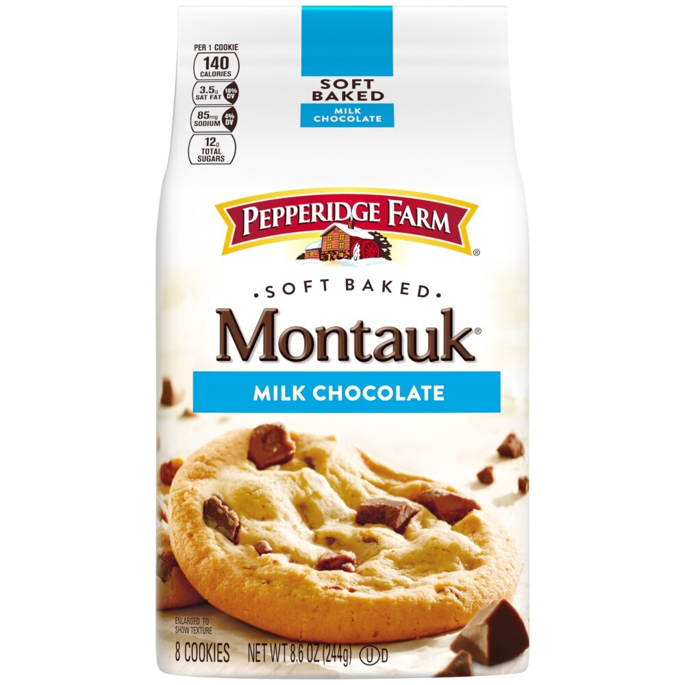slide 1 of 8, Pepperidge Farm Montauk Milk Chocolate Soft Cookies,