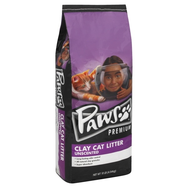 slide 1 of 1, Paws Happy Life Unscented Cat Litter Clay,