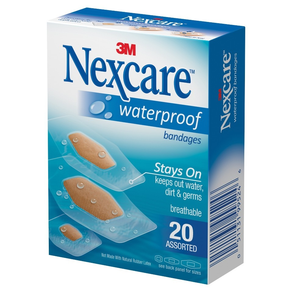 slide 8 of 10, Nexcare Waterproof Bandages, Clear, Assorted,