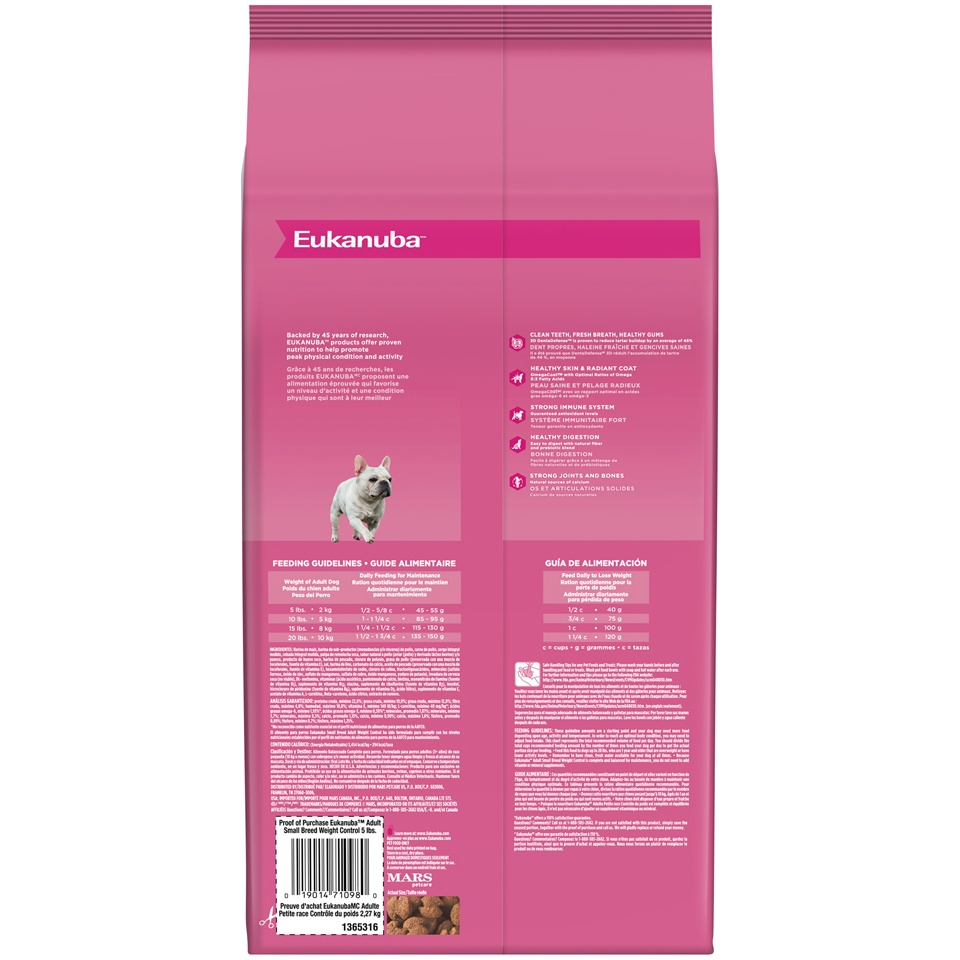 slide 2 of 5, Eukanuba Small Breed Weight Control Adult Dog Food,
