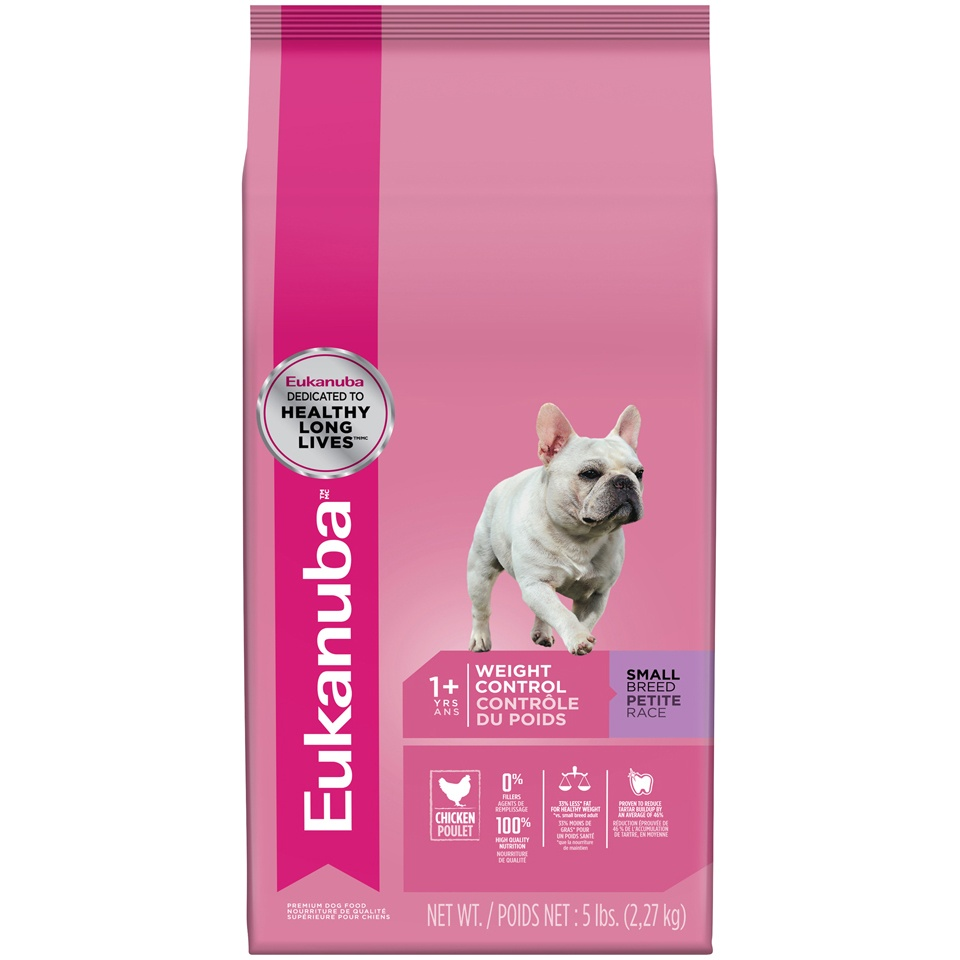 slide 1 of 5, Eukanuba Small Breed Weight Control Adult Dog Food,