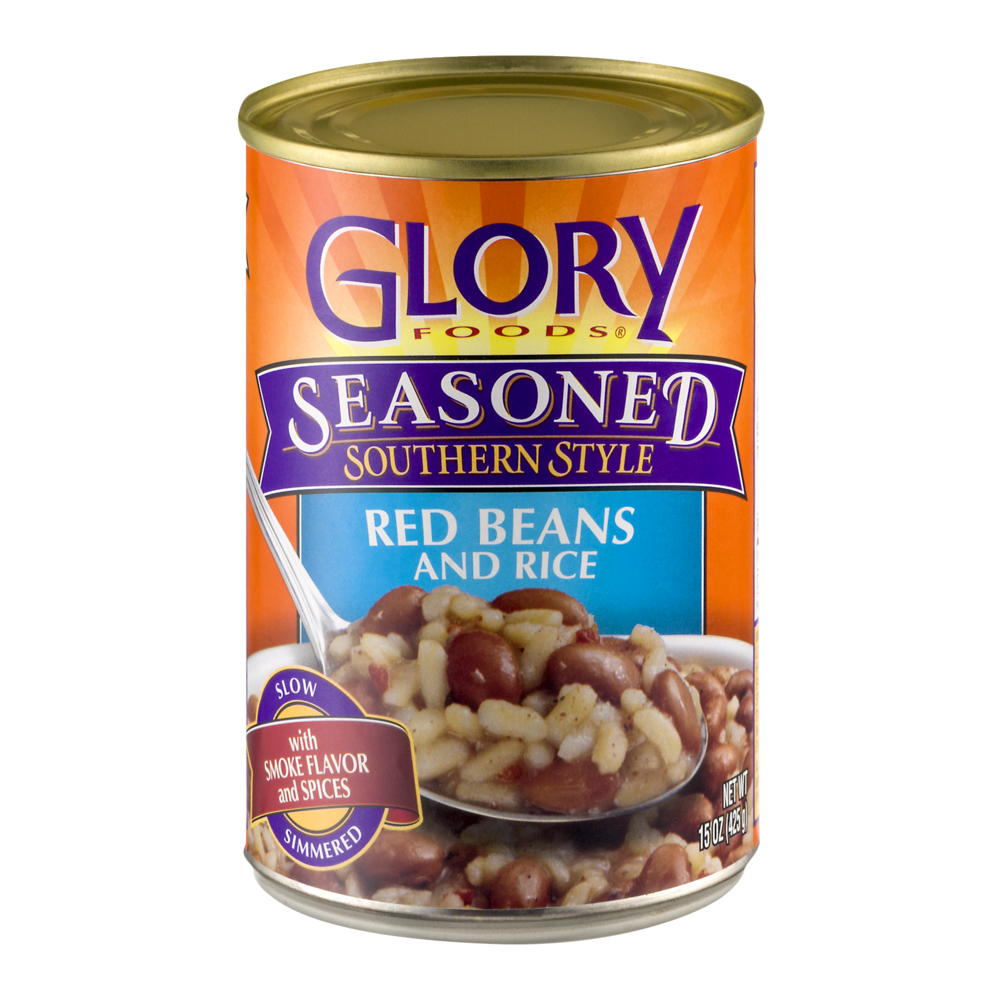 slide 1 of 1, Glory Foods Seasoned Southern Style Red Beans And Rice,
