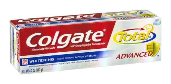 slide 1 of 2, Colgate Total Advanced Whitening Gel Toothpaste,