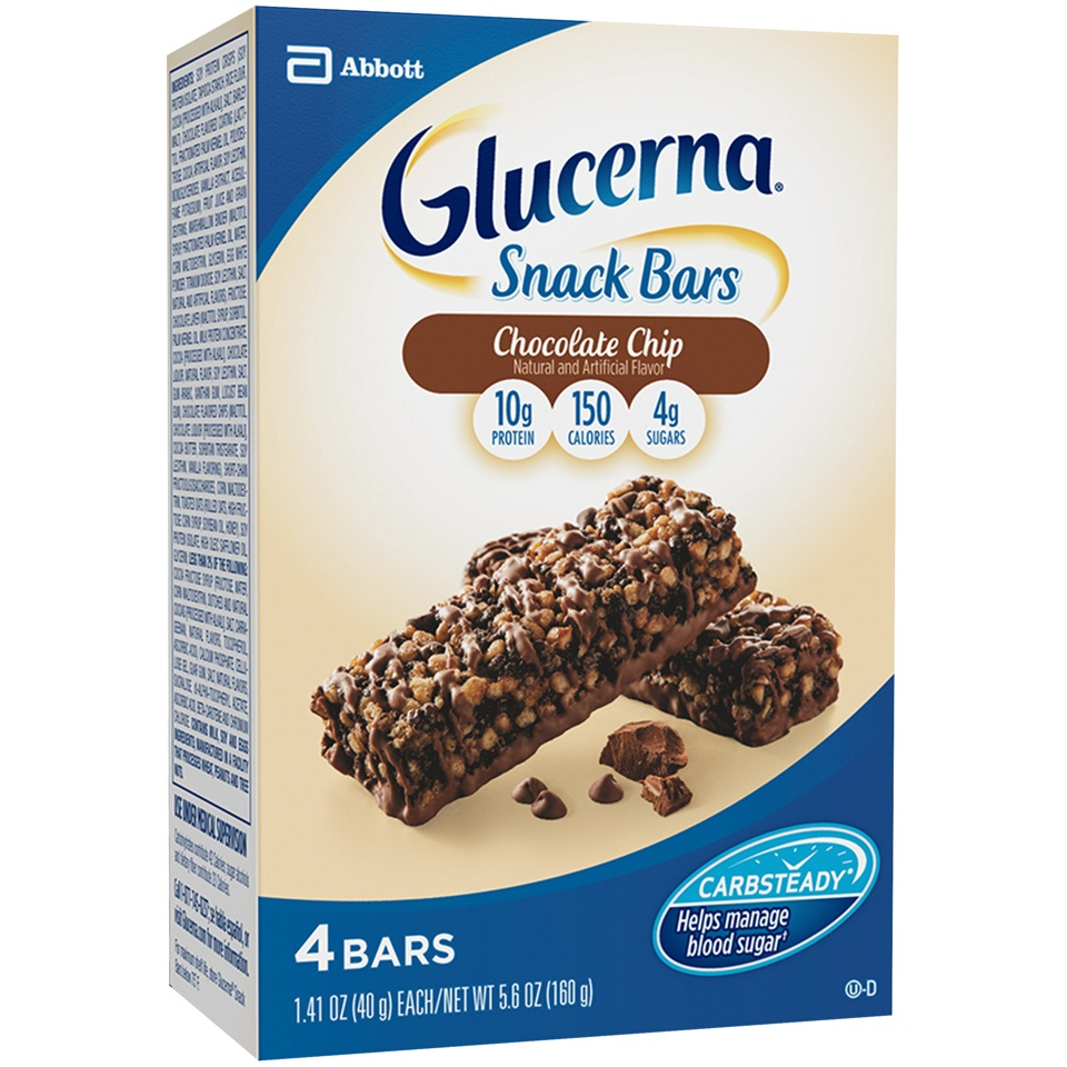 slide 2 of 5, Glucerna Hunger Smart Chocolate Chip Crisp Snack Bars,