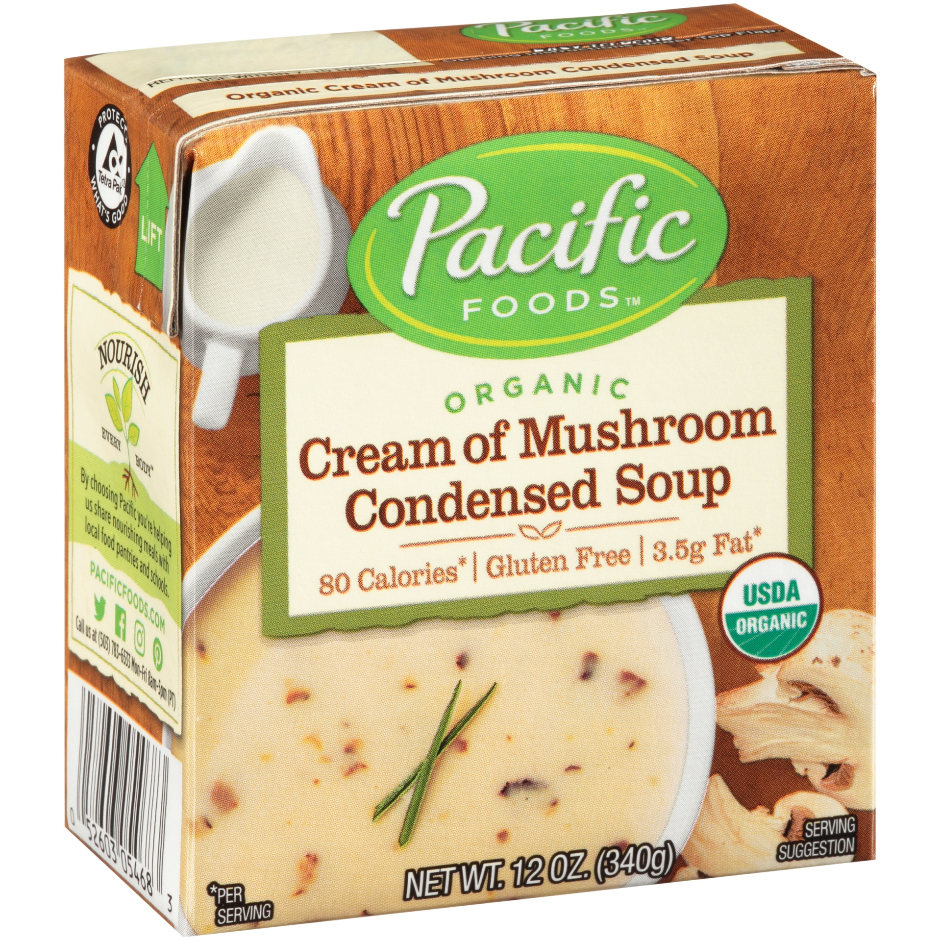 slide 1 of 9, Pacific Foods Cream of Mushroom Condensed Soup,